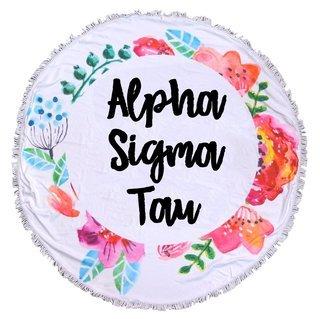 Alpha Sigma Tau Fringe Towel Blanket