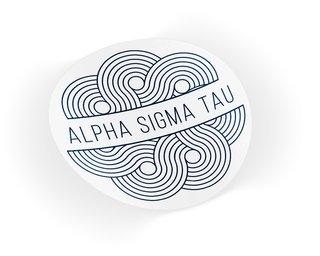 Alpha Sigma Tau Geo Scroll Sticker Sticker
