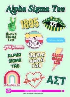 Alpha Sigma Tau Girl Power Stickers