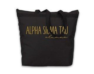 Alpha Sigma Tau Gold Foil Alumna Tote