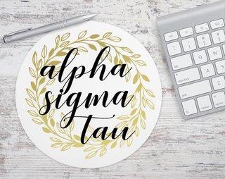 Alpha Sigma Tau Gold Wreath Mousepad