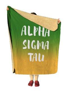 Alpha Sigma Tau Gradient Sherpa Lap Blanket
