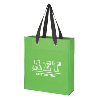 Alpha Sigma Tau Grommet Tote Bag