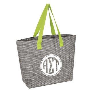 Alpha Sigma Tau Heathered Mesh Tote Bag