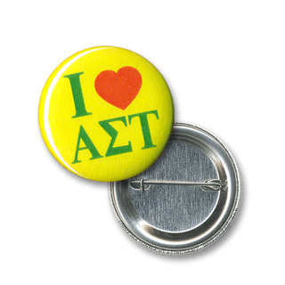 Alpha Sigma Tau I Love Mini Sorority Buttons