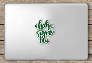 Alpha Sigma Tau Script Sticker