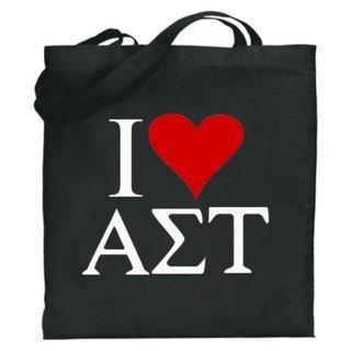 Alpha Sigma Tau I Love Tote Bags
