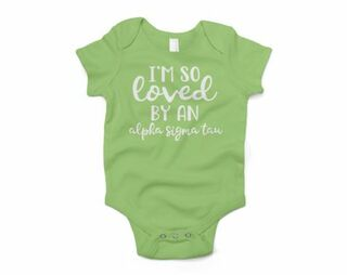 Alpha Sigma Tau I'm So Loved Baby Outfit Onesie
