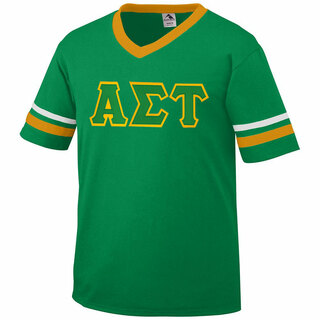 DISCOUNT-Alpha Sigma Tau Jersey With Greek Applique Letters