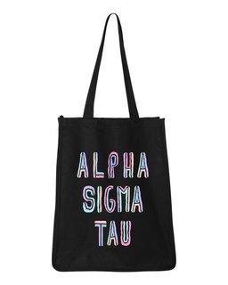 Alpha Sigma Tau Jumbo All In Tote Bag