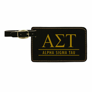 Alpha Sigma Tau Leatherette Luggage Tag