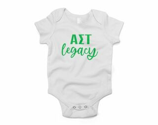 Alpha Sigma Tau Legacy Baby Outfit Onesie