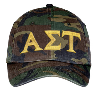 Alpha Sigma Tau Lettered Camouflage Hat