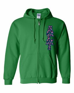 "Alpha Sigma Tau Lettered Heavy Full-Zip Hooded Sweatshirt (3"" Letters)"