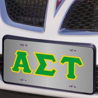 Alpha Sigma Tau Lettered License Cover