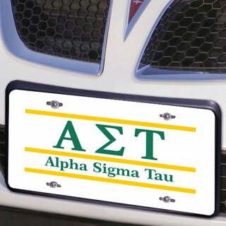 Alpha Sigma Tau Lettered Lines License Cover