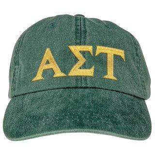 Alpha Sigma Tau Lettered Premium Pastel Hat