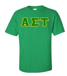 Alpha Sigma Tau Sewn Lettered Shirts