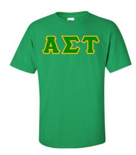 Alpha Sigma Tau Lettered Shirts