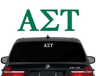 Alpha Sigma Tau Letters Decal
