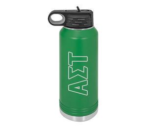 Alpha Sigma Tau Letters Stainless Water Bottle
