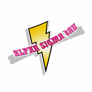 Alpha Sigma Tau Lightning Bolt Decal