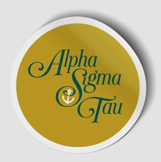 Alpha Sigma Tau Logo Round Decal