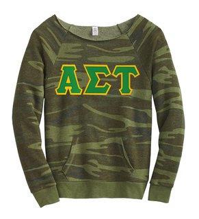 Alpha Sigma Tau Maniac Camo Fleece Sweatshirt