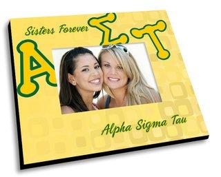 Alpha Sigma Tau Mascot Color Picture Frame