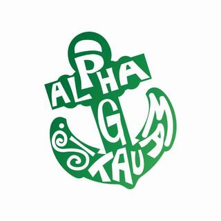 Alpha Sigma Tau Mascot Greek Letter Sticker