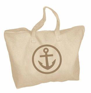 Alpha Sigma Tau Mascot Zippered Tote Bag