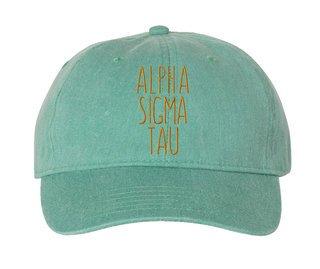 Alpha Sigma Tau Mod Comfort Colors Pigment Dyed Baseball Cap