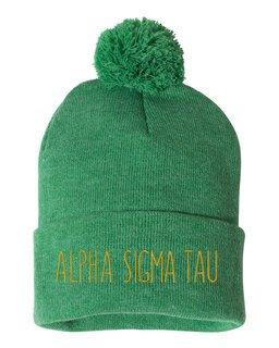 Alpha Sigma Tau Mod Pom Pom Beanie