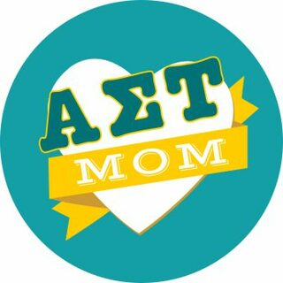 Alpha Sigma Tau Mom Round Decals