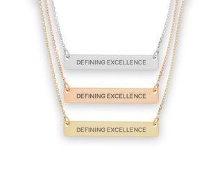 Alpha Sigma Tau Motto Bar Necklace