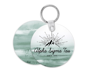 Alpha Sigma Tau Mountain Key Chain
