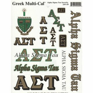 Alpha Sigma Tau Multi Greek Decal Sheet