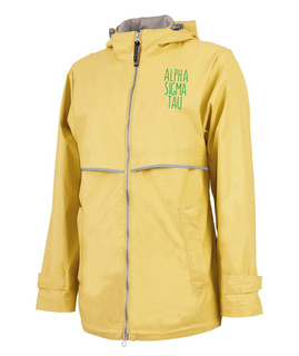 Alpha Sigma Tau New Englander Circle Nickname Rain Coat