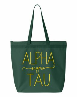Alpha Sigma Tau New Handwriting Tote Bag