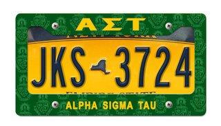 Alpha Sigma Tau New License Plate Frame