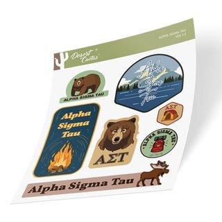 Alpha Sigma Tau Outdoor Sticker Sheet