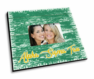 Alpha Sigma Tau Painted Fence Picture Frame