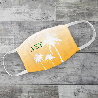 Alpha Sigma Tau Palm Trees Face Mask