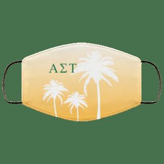 Alpha Sigma Tau Palm Trees Face Mask