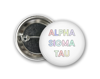 Alpha Sigma Tau Pastel Letter Button