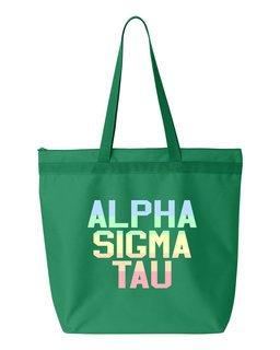 Alpha Sigma Tau Pastel Tote Bag