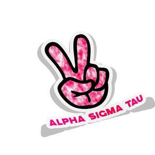 Alpha Sigma Tau Peace Hands Decal Sticker