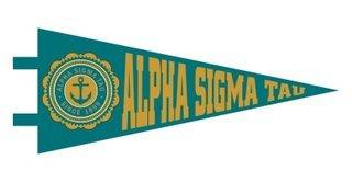 Alpha Sigma Tau Pennant Decal Sticker
