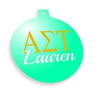 Alpha Sigma Tau Personalized Christmas Ornaments