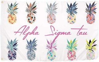 Alpha Sigma Tau Pineapple Flag